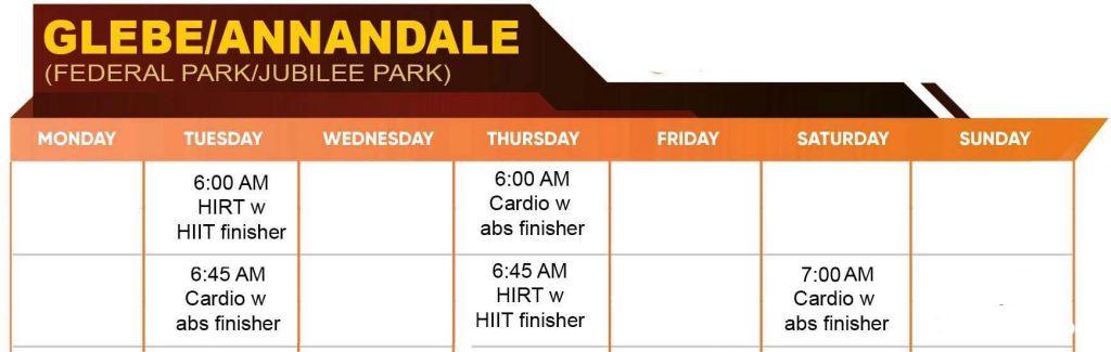 Glebe/ Annandale Ownitfit Timetable